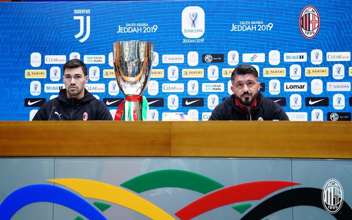 Supercoppa Italiana - La conferenza stampa di Gattuso e Romagnoli