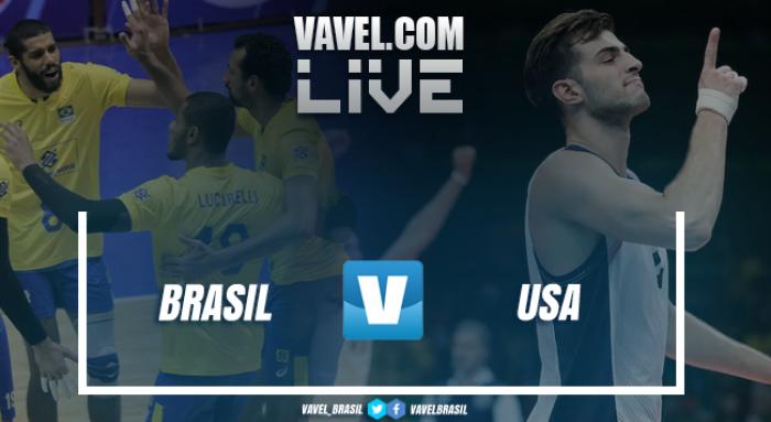 Resultado Brasil x Estados Unidos pelo amistoso de vôlei 2017 (3-0)