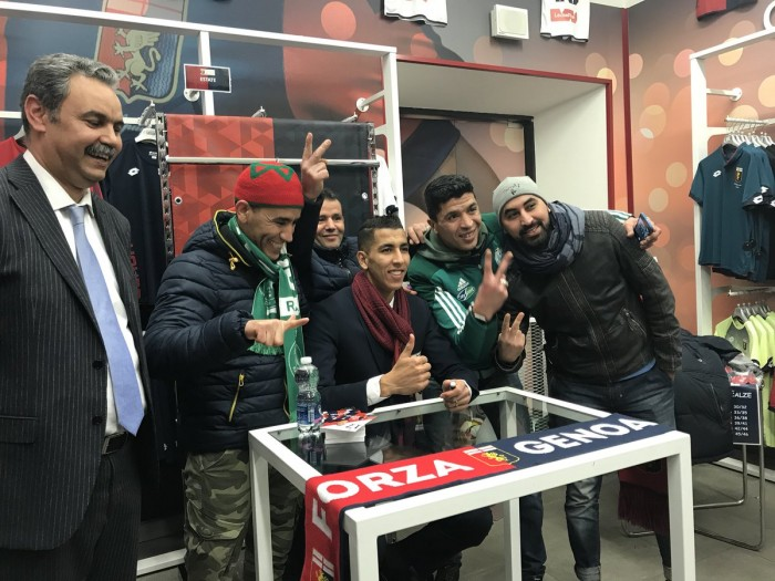 Genoa: la rosa si prepara all'Inter, ieri la presentazione ufficiale del difensore El Yamiq