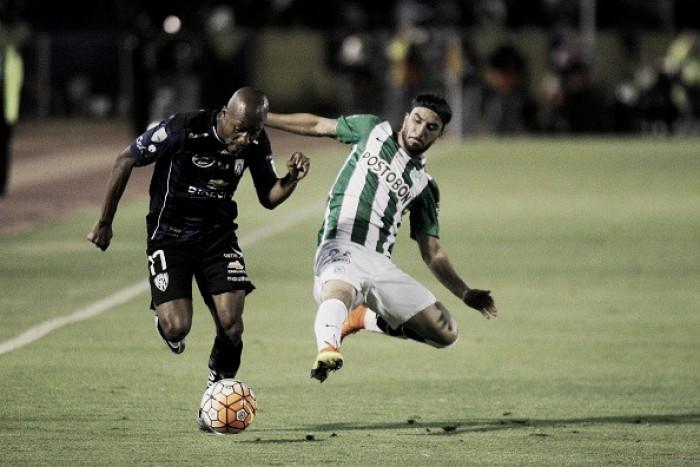 Mina marca no fim e Del Valle empata com Atlético Nacional na primeira final da Libertadores