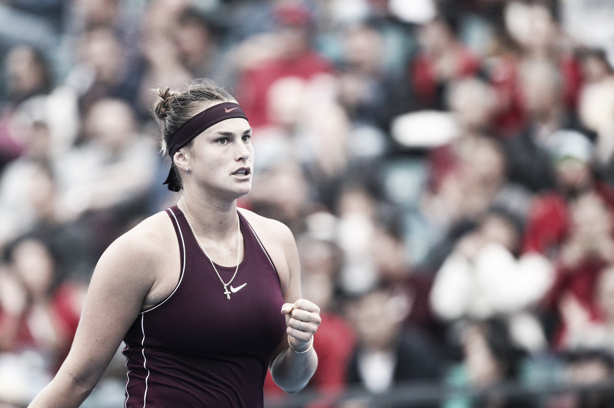Sabalenka vira sobre Riske em Shenzhen e é primeira campeã da WTA no ano