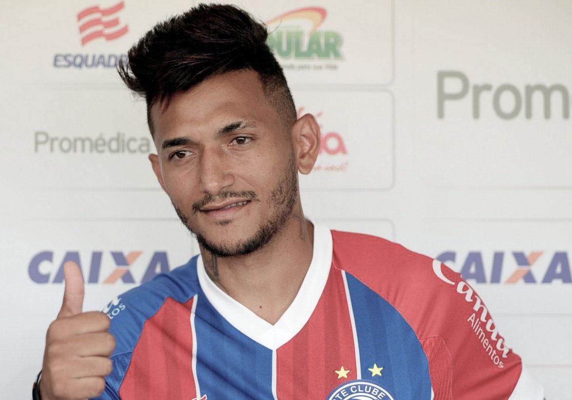 Bahia apresenta atacante Rogério e o lateral-direito Matheus Silva