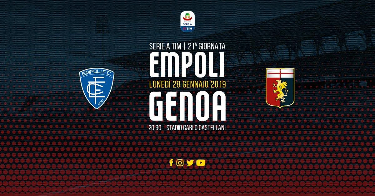 Empoli - Genoa, match importante in chiave salvezza: le probabili formazioni