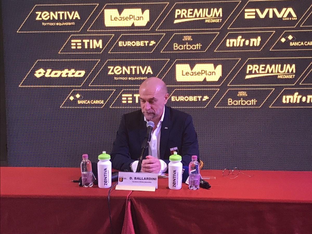 """Genoa, Ballardini in conferenza: """"Siamo ben contenti del nostro cammino"""""""