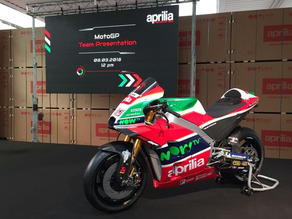 MotoGP - Presentata la nuova Aprilia RS-GP 2018