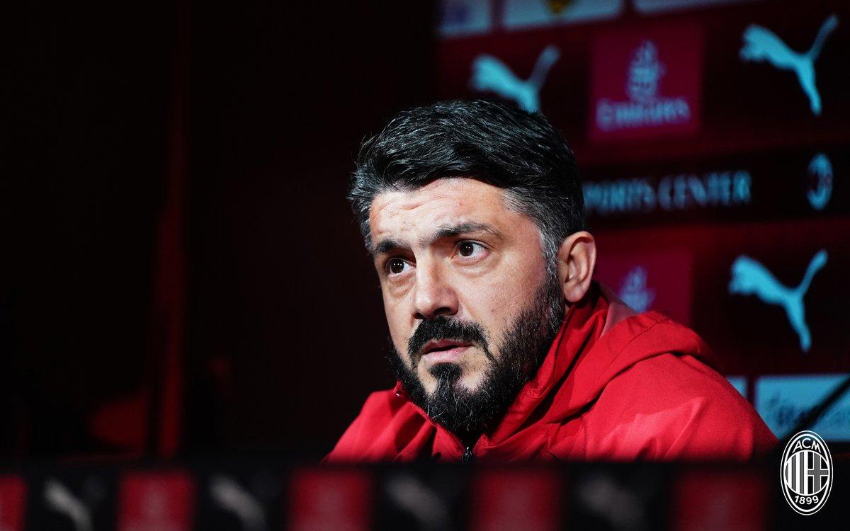"""Milan, Gattuso in conferenza stampa: """"Higuain? Non sono deluso, accetto la scelta"""""""
