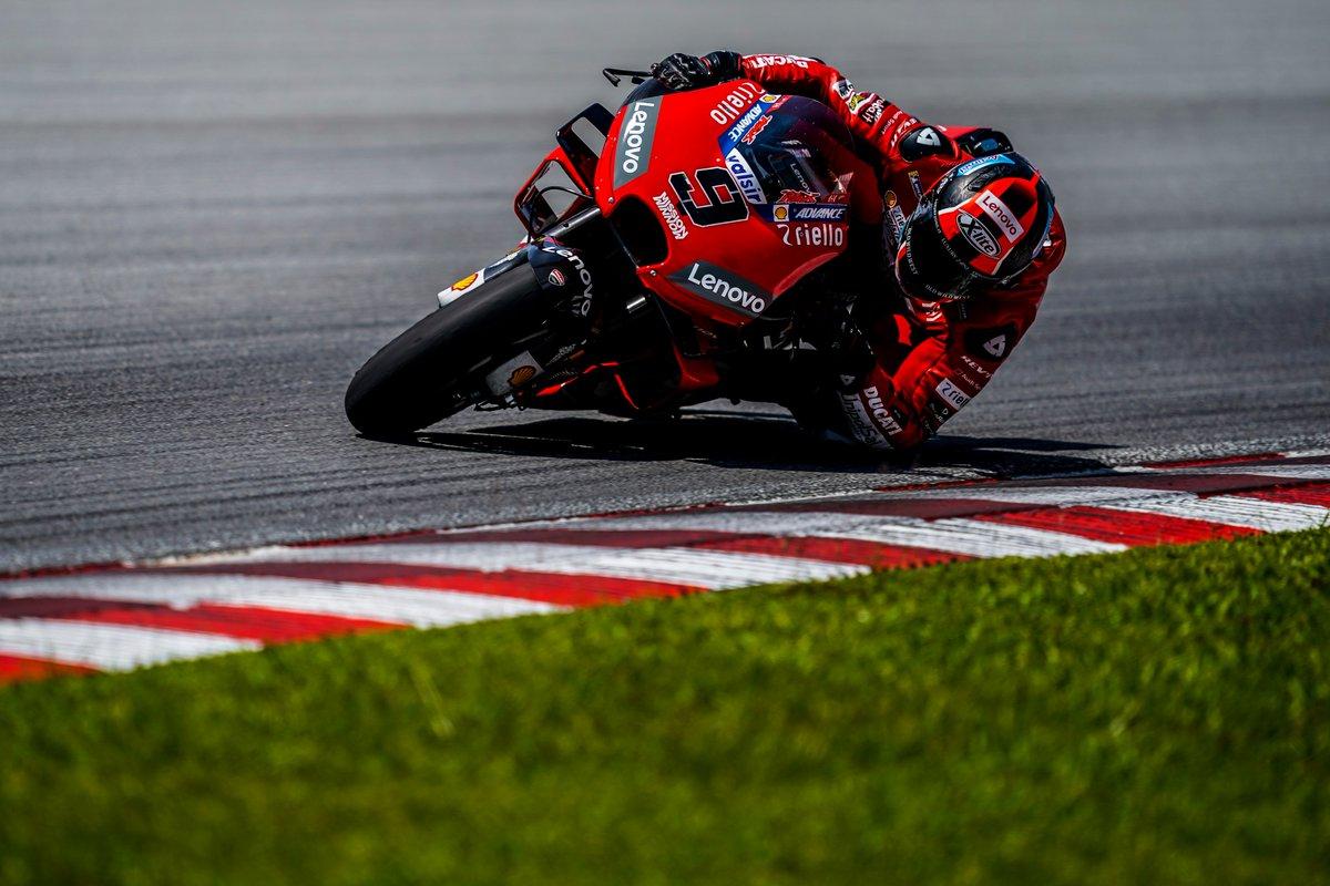 Test MotoGP - Dominio delle Ducati, Petrucci in testa