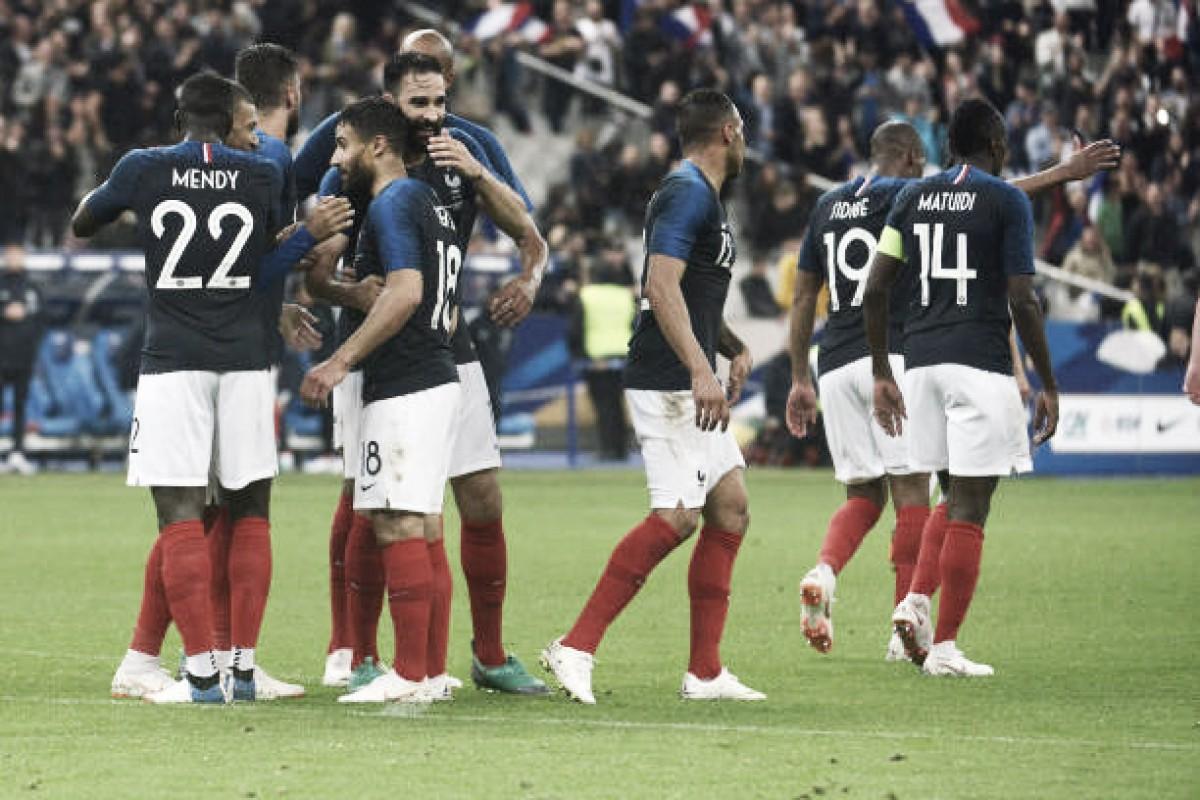 França enfrenta Estados Unidos em último teste para Copa do Mundo