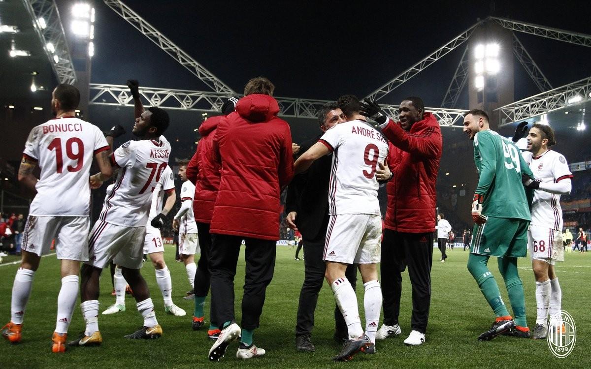 """Il Milan sbanca Marassi nel finale, Gattuso: """"Complimenti al Genoa, oggi potevamo anche perdere"""""""