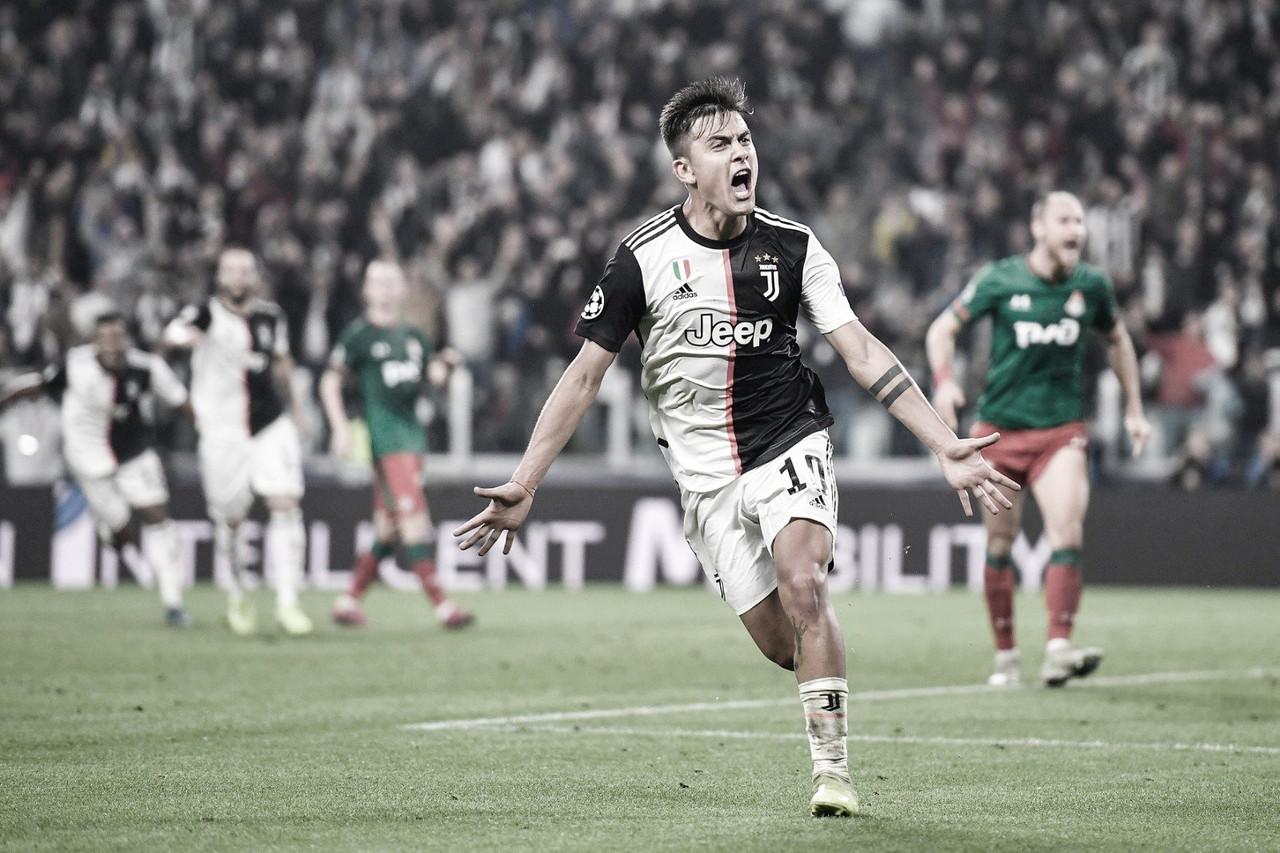 Dybala brilha, e Juventus vira sobre Lokomotiv na Champions League