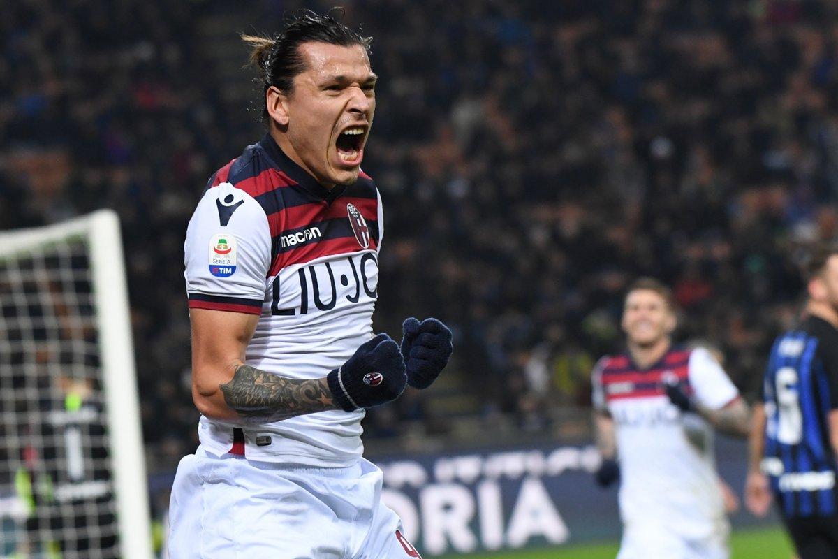 Serie A- Il Bologna batte Inter a sorpresa 1-0 al Meazza