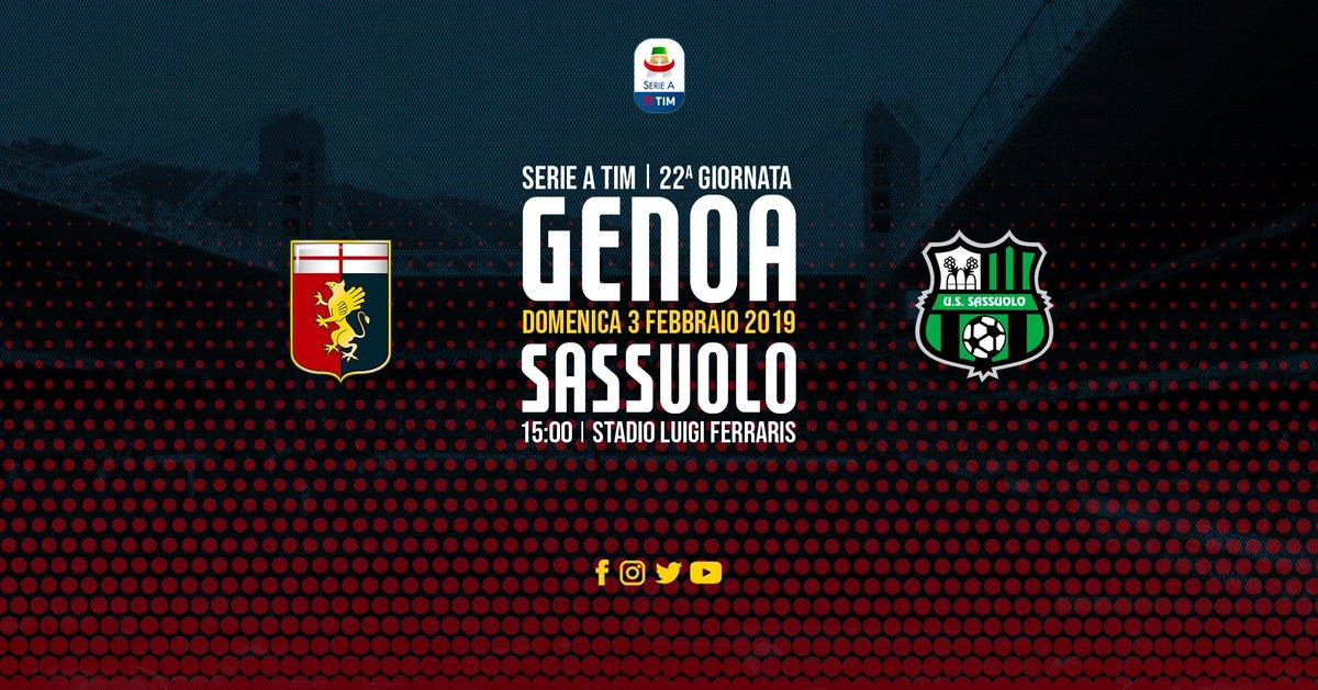 Serie A- Il Genoa a Marassi per la salvezza. Il Sassuolo vuole continuare a vedere Europa