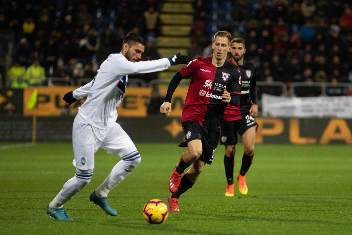 Serie A - Hateboer stende il Cagliari: vince l'Atalanta 0-1