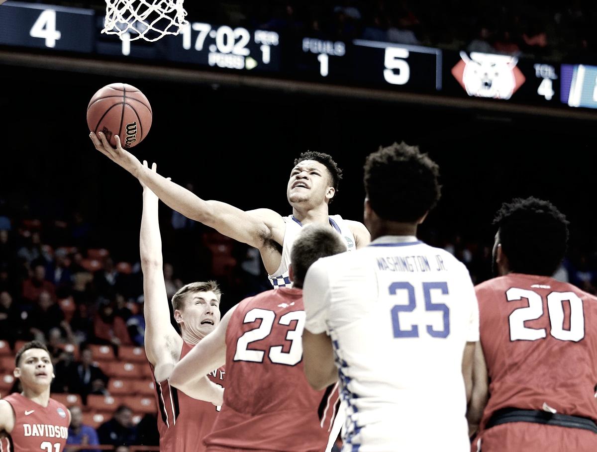 Em jogo equilibrado, Kentucky supera Davidson com grande atuação de Kevin Knox