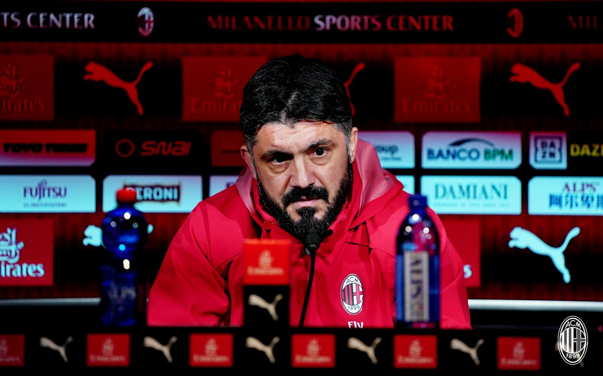 """Milan, Gattuso in conferenza stampa: """"Giocare contro la Roma non è mai facile"""""""