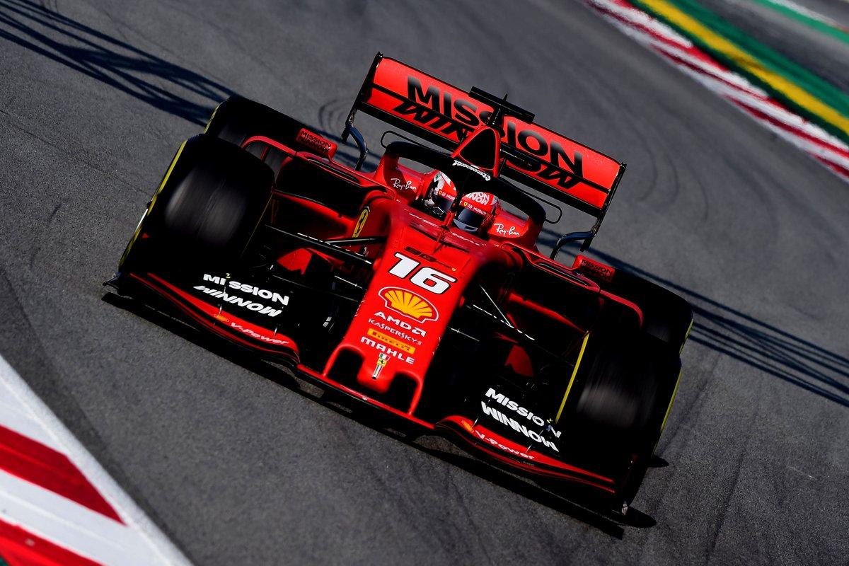 Test Formula 1, Day-3: Leclerc davanti a tutti, settimo Giovinazzi