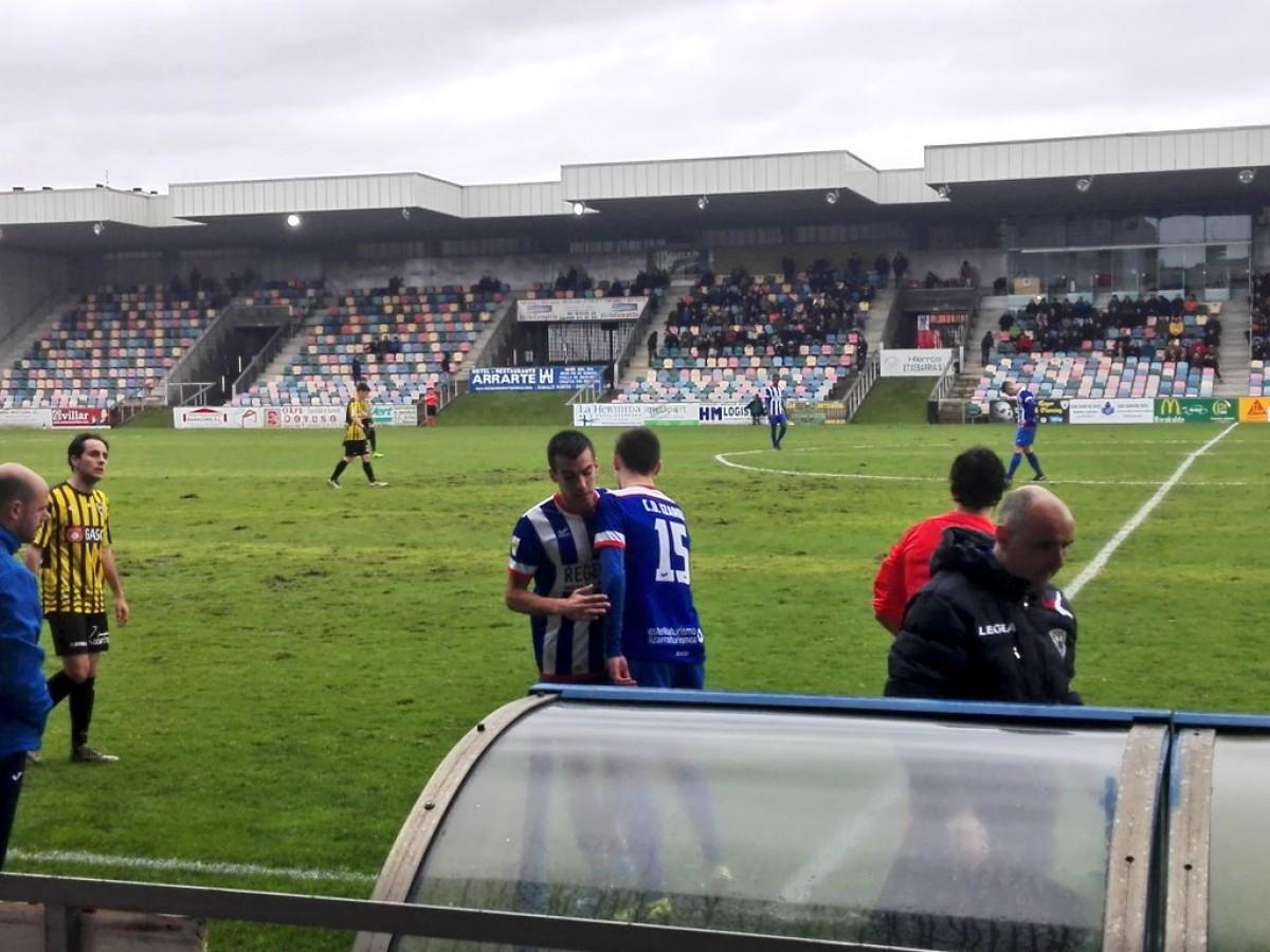 Xabier Zaldúa, un debut en Segunda B a los 16 años de edad