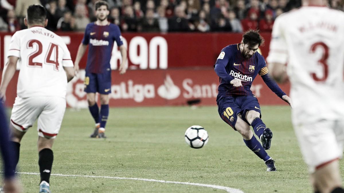 Sevilla sofre apagão no fim, vê Barcelona buscar empate e manter invencibilidade no Espanhol