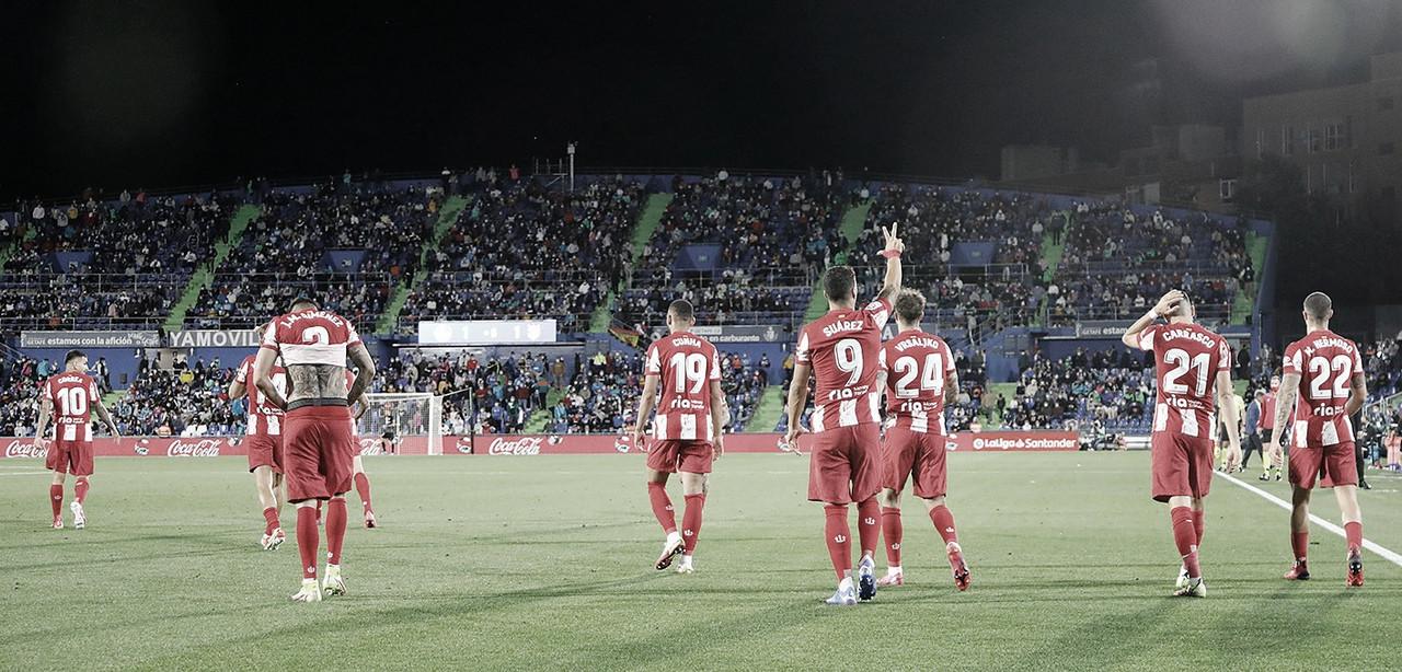 Suárez le da el triunfo sobre la hora al Atlético de Madrid ante Getafe
