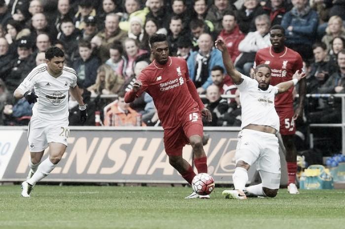 Liverpool encara instável Swansea visando encostar no pelotão de frente da Premier League
