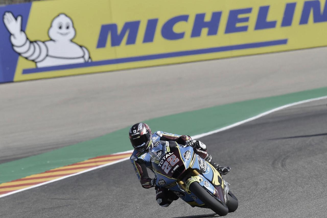 Sam Lowes, que ganó la última carrera en Francia, ha liderado todo el entrenamiento, mostrando ya la línea que quiere seguir este Gran Premio. Imagen: MotoGP