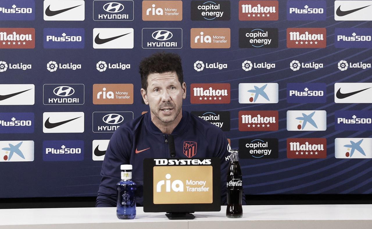 """Simeone: """"Nos enfrentamos a uno de los rivales más en forma"""""""