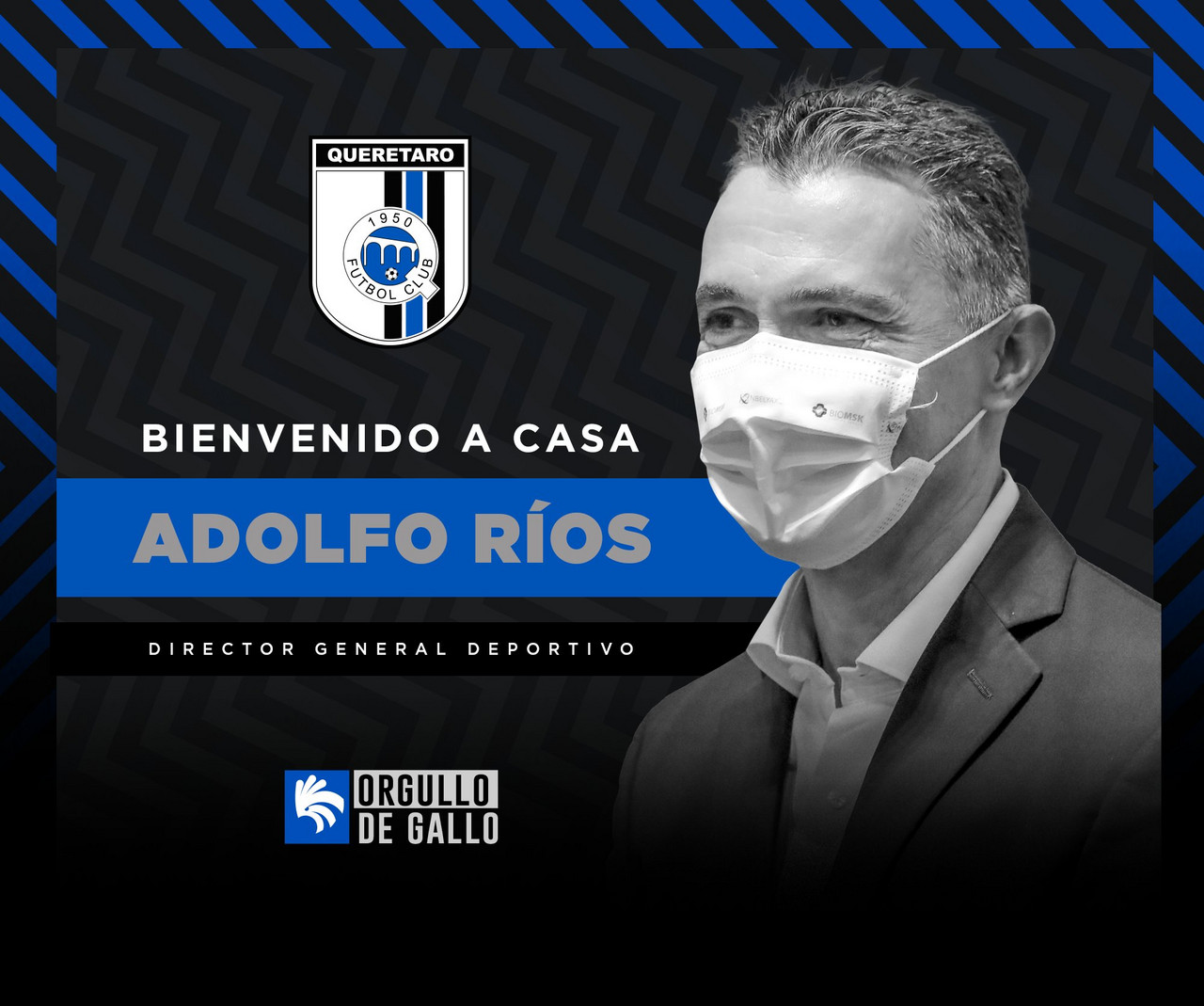 Adolfo Ríos regresa a Querétaro