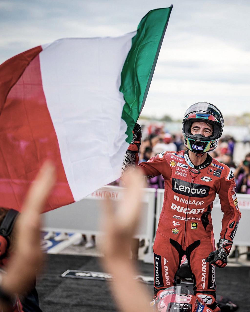 Bagnaia vive su mejor momento en MotoGP