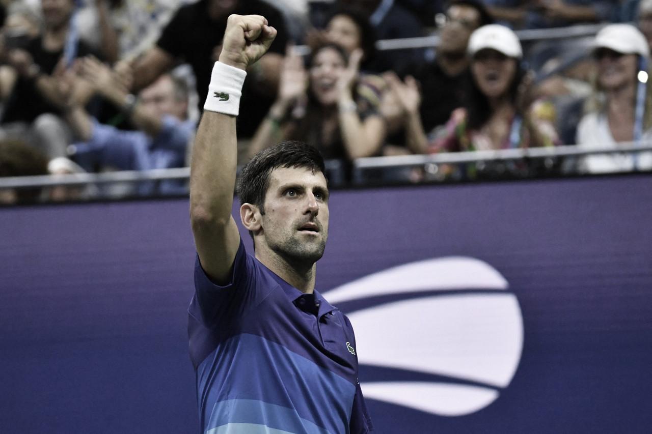 Djokovic vira contra jovem Brooksby em longo jogo pelas oitavas do US Open