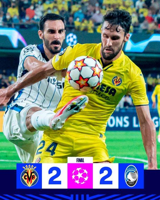 Champions League - Tante emozioni, ma tra Villareal e Atalanta finisce 2-2