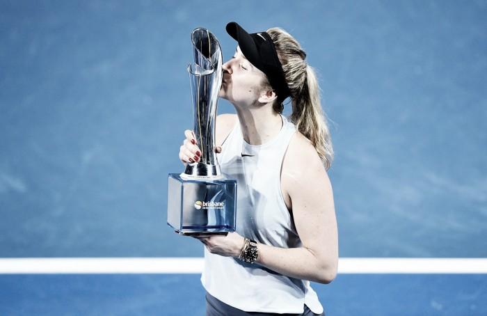 WTA Brisbane: Elina Svitolina dominates for first title of 2018