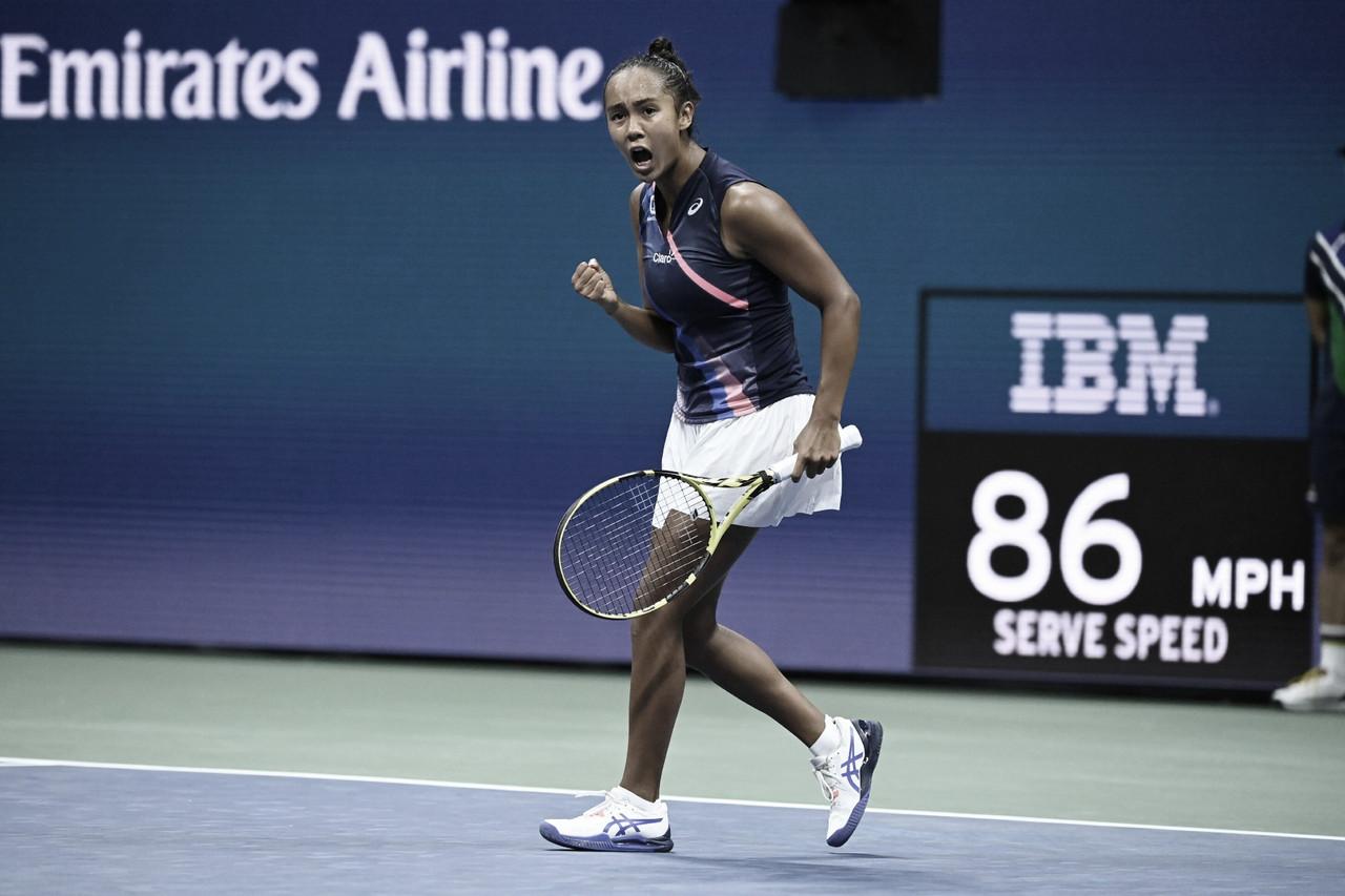 Leylah Fernandez vira e elimina atual campeã Osaka no US Open