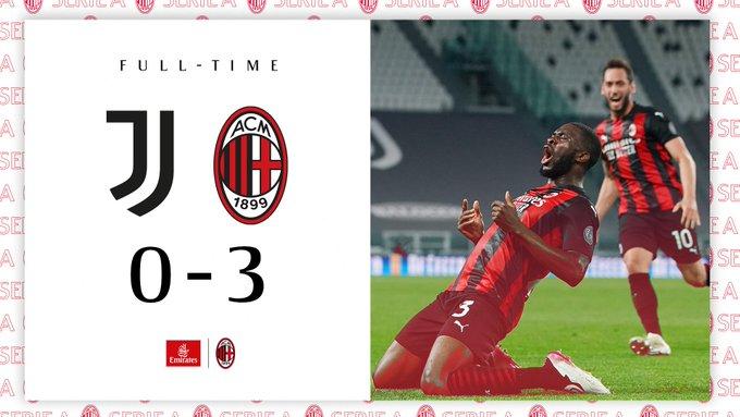 Serie A - Il Milan espugna lo Stadium: contro la Juve finisce 0-3