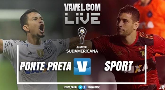 Jogo Ponte Preta x Sport AO VIVO online pela Sul-Americana 2017 (1-0)