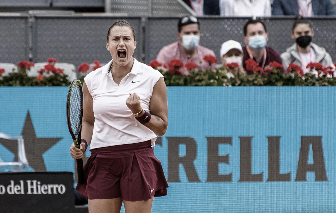Sabalenka consegue revanche contra Barty e fatura título do WTA 1000 de Madrid