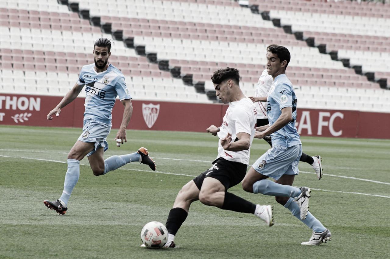 Crónica Sevilla Atlético - RB Linense: el conjunto de Paco Gallardo jugará en la 1º RFEF (3-1)