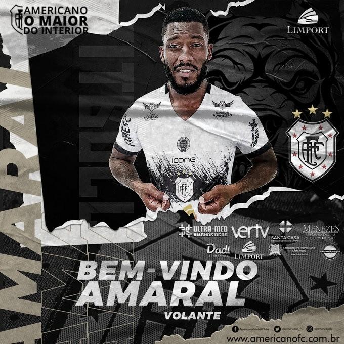 Americano anuncia contratação do volante Amaral, ex Flamengo