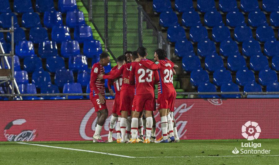 Celebración del gol de la victoria ante el Getafe. Fuente; LaLiga