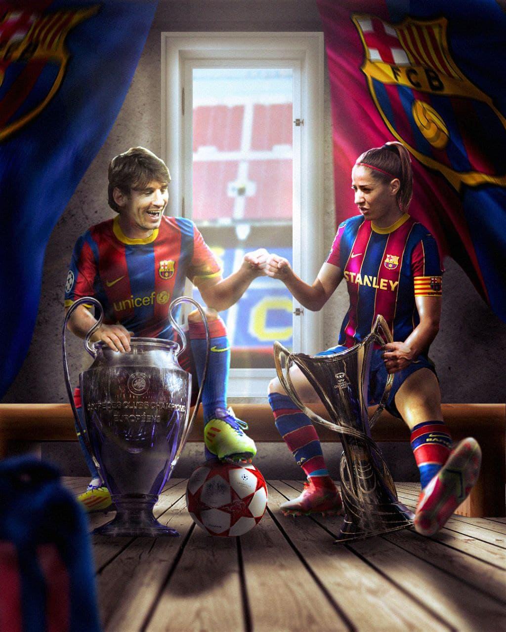 El Fútbol Club Barcelona, primer equipo campeón de la Champions femenina y masculina