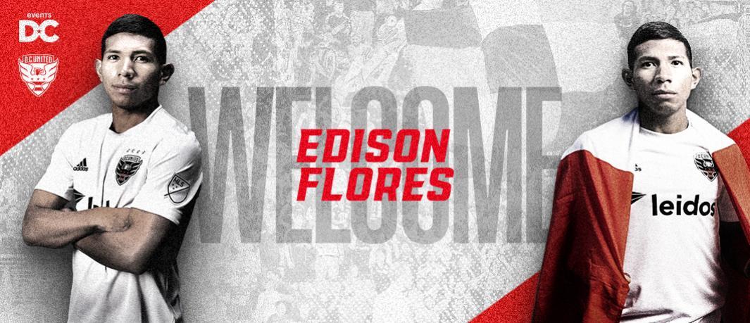 DC United firma a Edison Flores como Designated Player