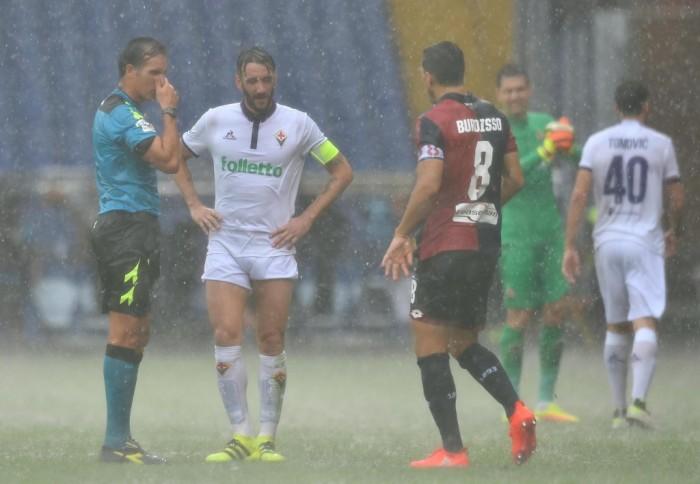 Serie A, la pioggia frena Genoa-Fiorentina: 0-0 e tante emozioni dopo soli 28' di gioco