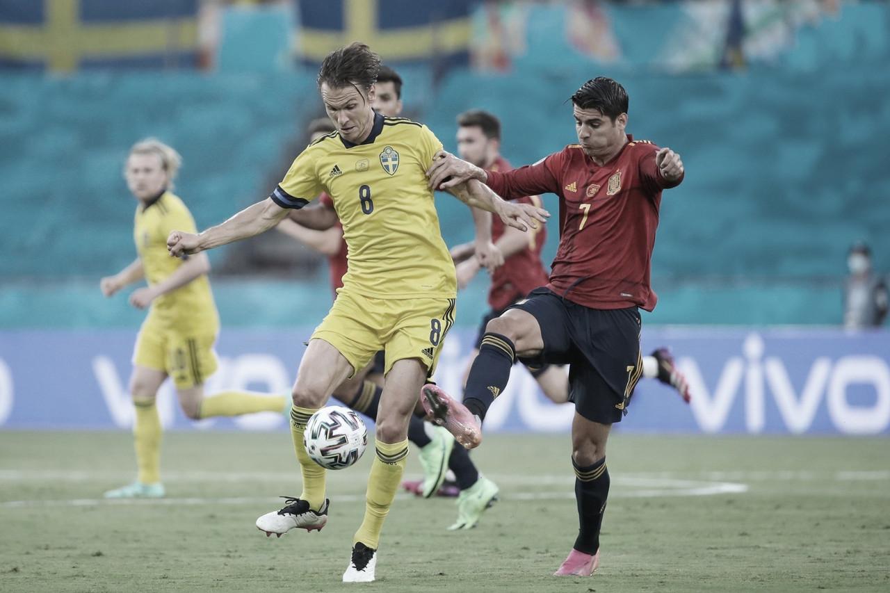 Espanha e Suécia estreiam na Eurocopa sem marcar gols