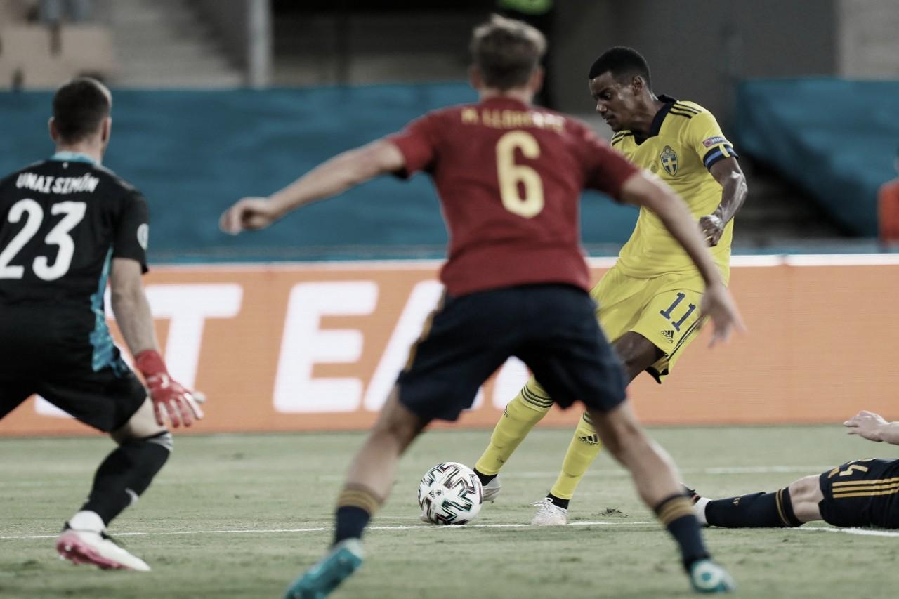 Marcos Llorente recuperando energías tras el partido ante Suecia