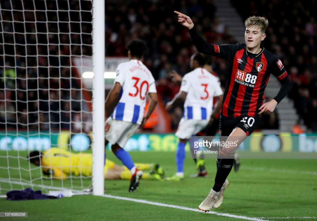 Bournemouth 2-0 Brighton & Hove Albion: Ten-man Seagulls fall to another defeat on the road