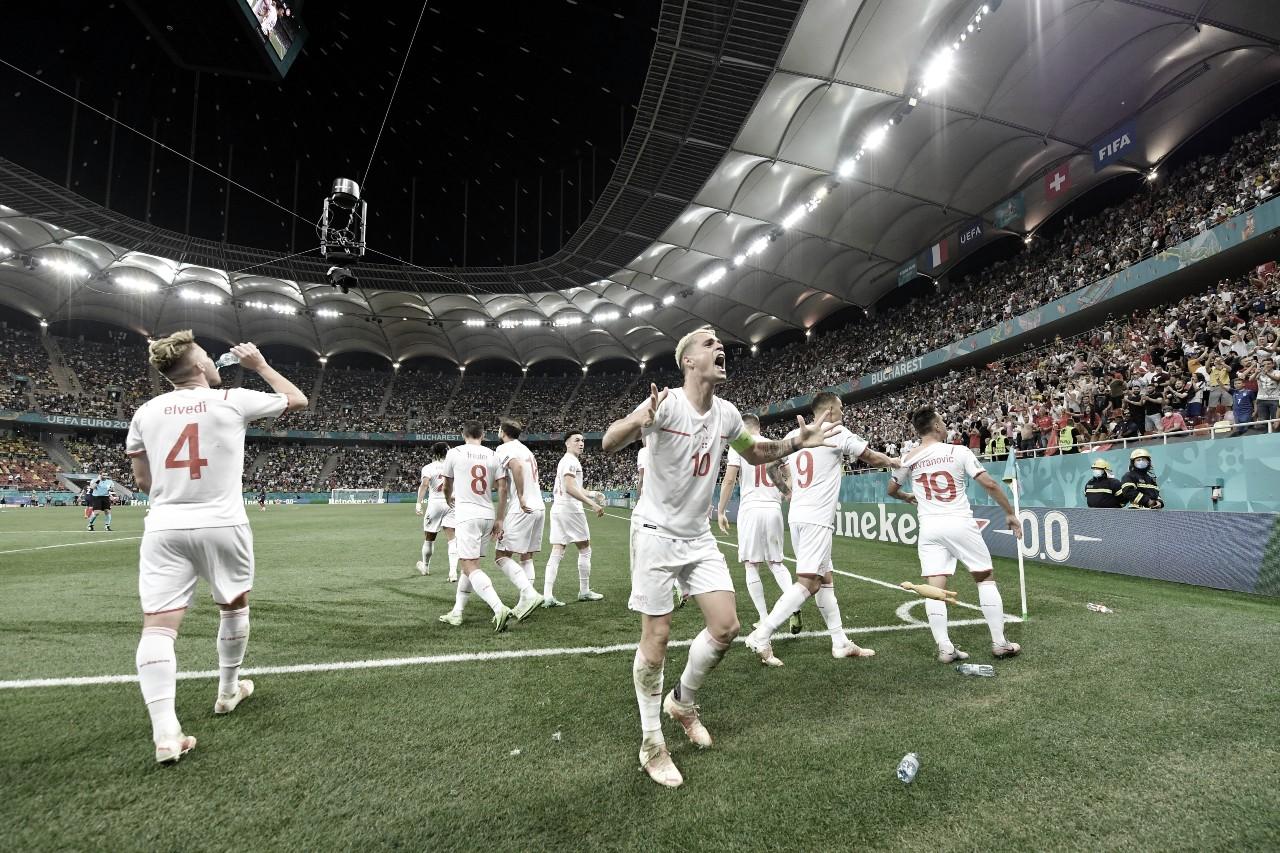 Francia 3 (4) - (5) 3 Suiza: Suiza reserva su plaza en cuartos de final