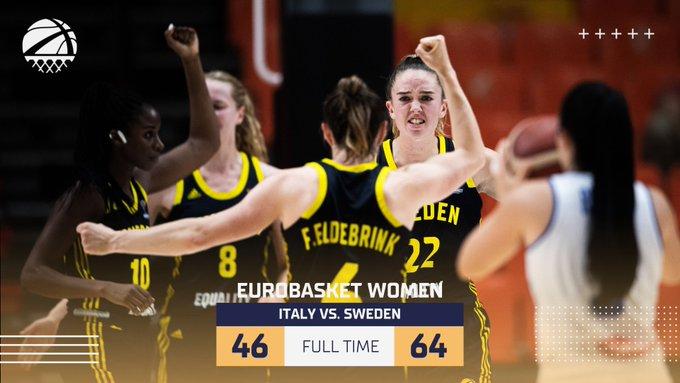 Eurobasket Women 2021 - La Svezia sorprende l'Italia: azzurre eliminate