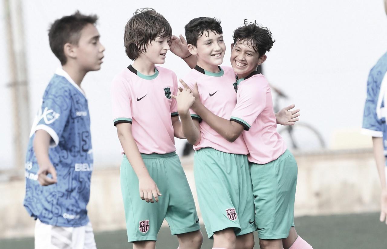 El FCB Alevín D gana la Liga y se une a la fiesta de La Masía
