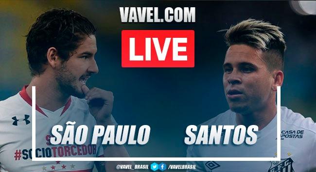 Gols e melhores momentos São Paulo 2x1 Santos pelo Campeonato Paulista