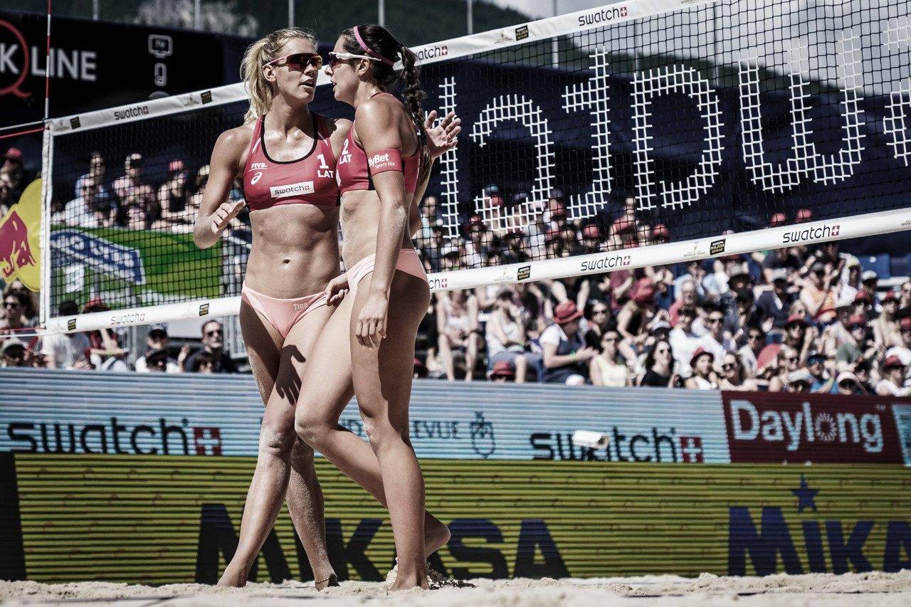 Pontos e melhores momentos de Artacho Del Solar/Clancy 2x0 Graudina/Kravcenoka no vôlei feminino de praia pelas Olimpíadas de Tóquio 2020