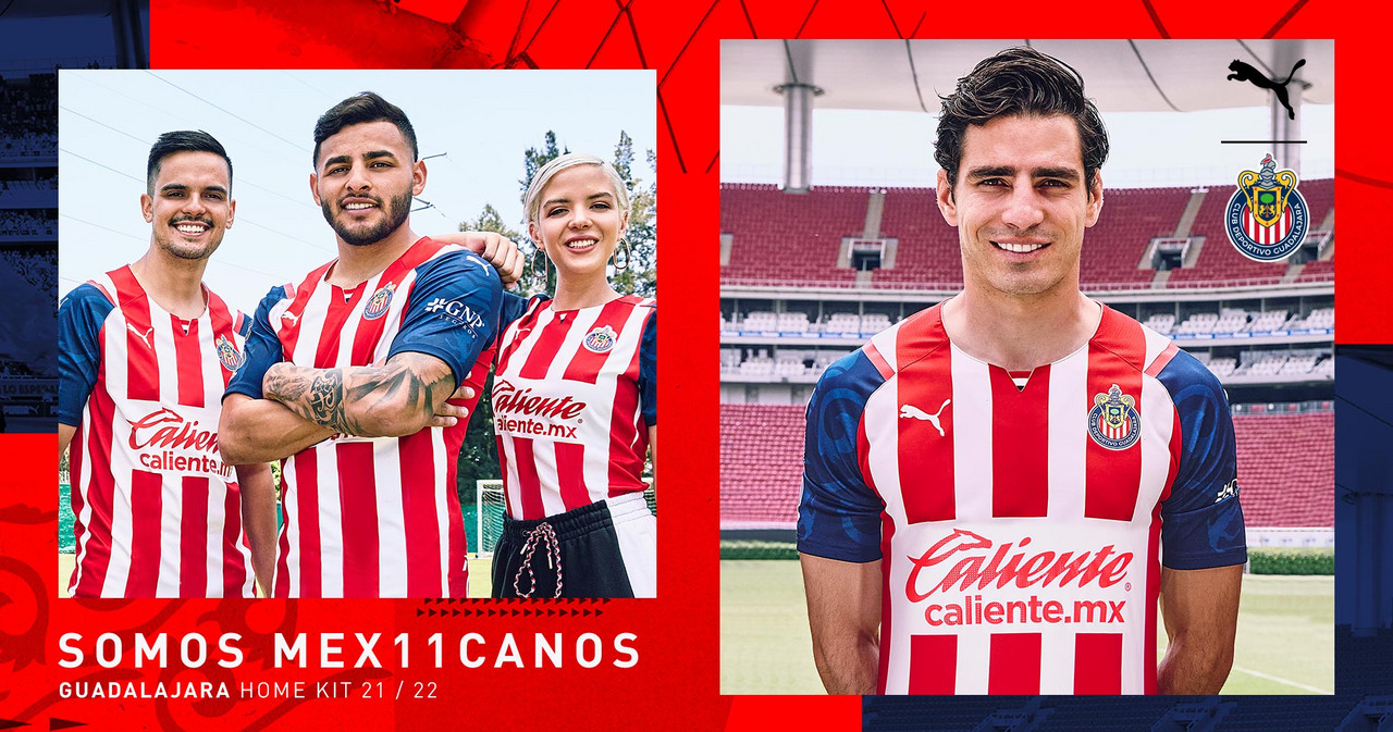 Chivas presenta uniformes para Temporada 2021-2022